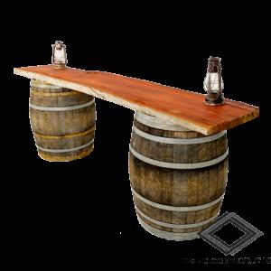 Location de bar pirate en bois