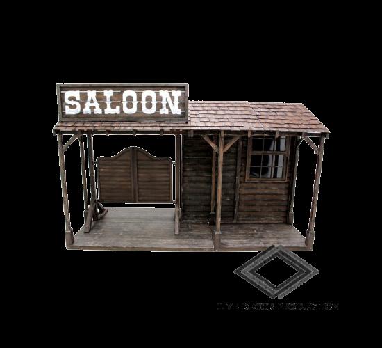 location façade de saloon