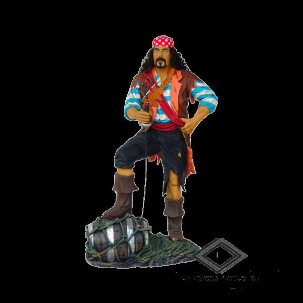 location de statue pirate sur tonneau