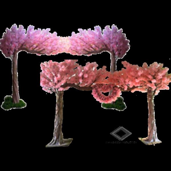 Location d'arche artificielle cerisier rose