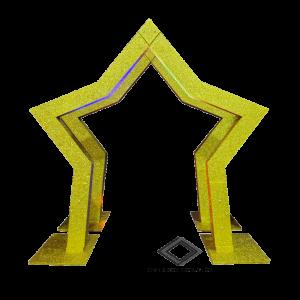 Location d'arche étoile dorée