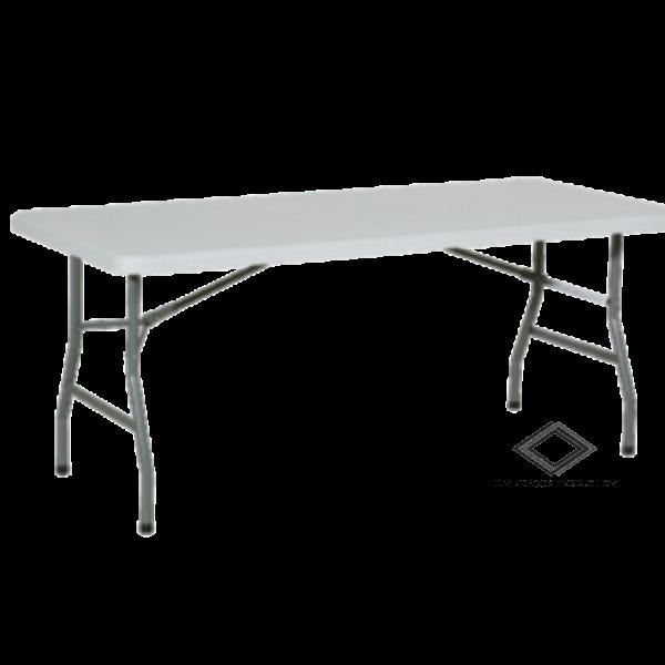 Location de table pliante blanche