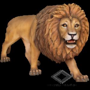 Location de lion en résine