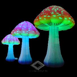 Location de champignon lumineux géant gonflable