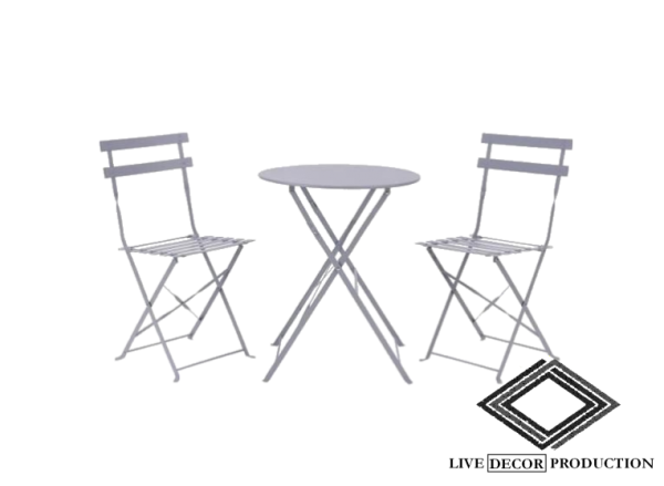 chaises et table style guinguette