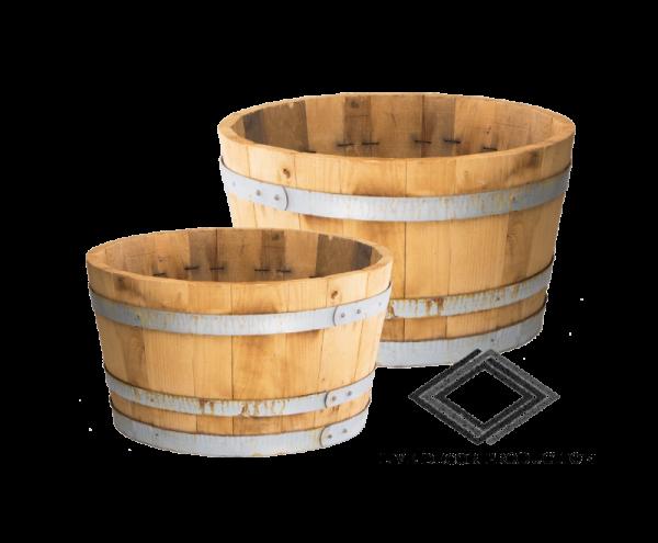 bassine en demi tonneaux