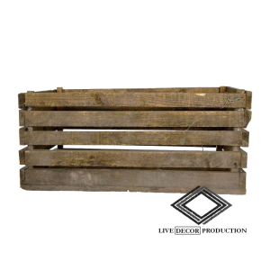 Location de cagette en bois vintage